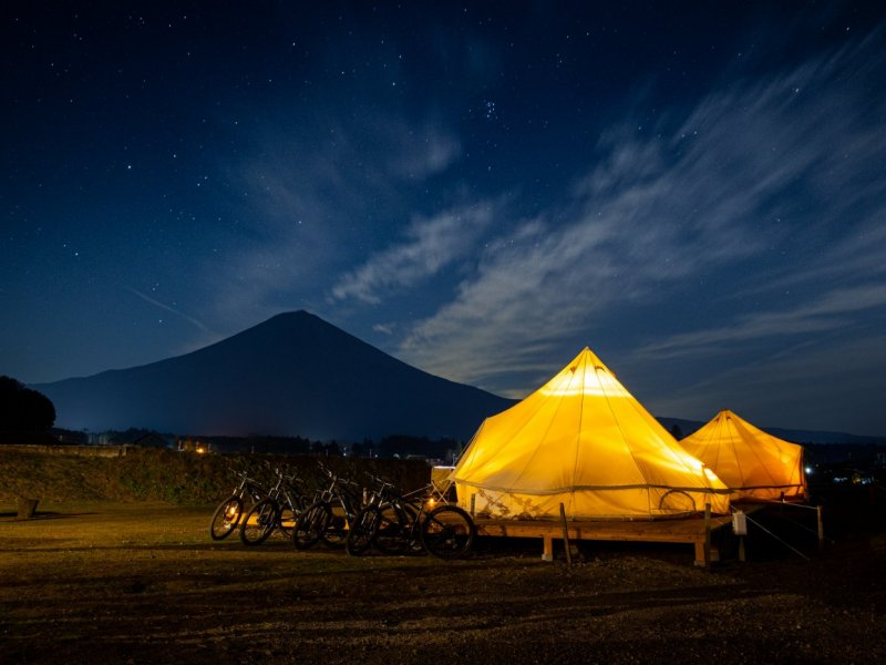 Glamping in Mt.Fuji area (2 days & 1 night)